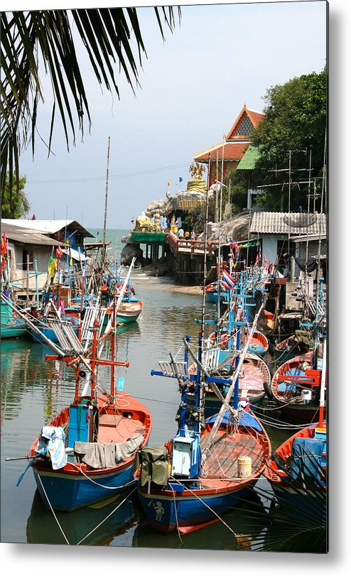 Temple Metal Print featuring the photograph Fishing Boats by Adrian Evans
