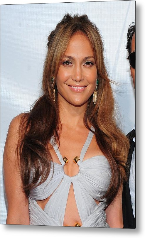 Jennifer Lopez Metal Print featuring the photograph Jennifer Lopez Wearing An Emilio Pucci by Everett