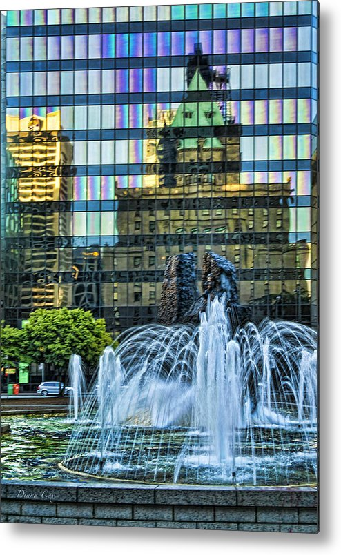 Architecture Metal Print featuring the photograph Old On New by Diana Cox
