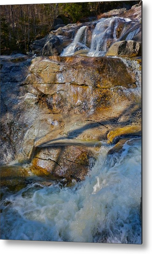 Landscape Metal Print featuring the photograph Step Falls In Soft Light by George Ramos