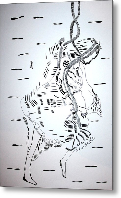 Jesus Metal Print featuring the drawing Ussua Dance - Sao Tome And Principe by Gloria Ssali