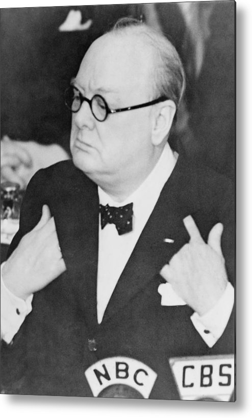 History Metal Print featuring the photograph Winston Churchill 1874-1965 by Everett