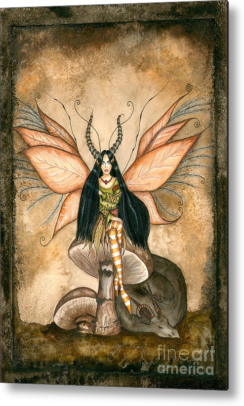 Faery Metal Print featuring the painting Earth Faery by Alysa Fioretzi