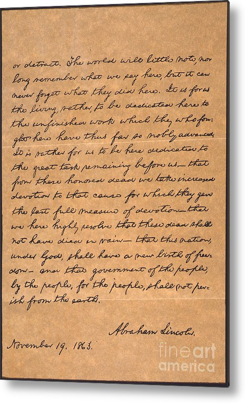 graphic relating to Gettysburg Address Printable referred to as Gettysburg Deal with Steel Print