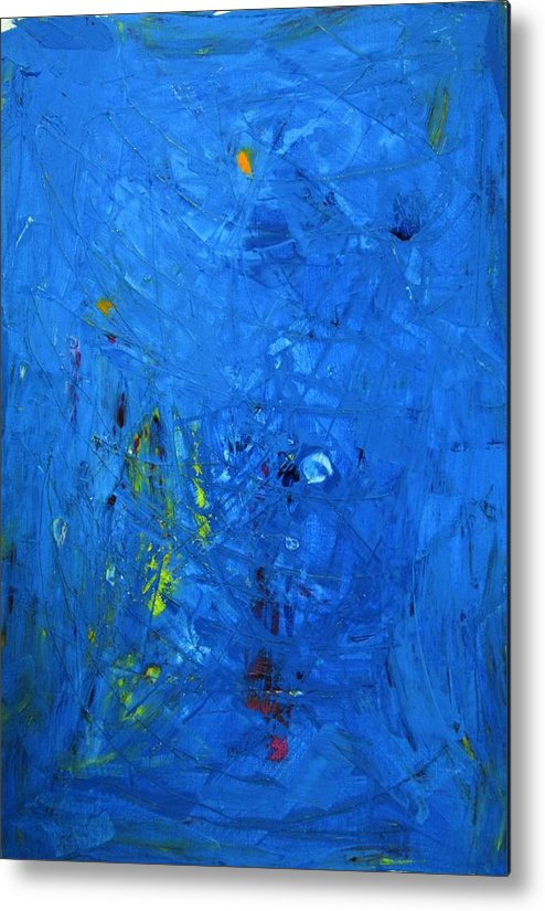 Abstract Art Metal Print featuring the painting Higgs Disintegrating by John Dossman