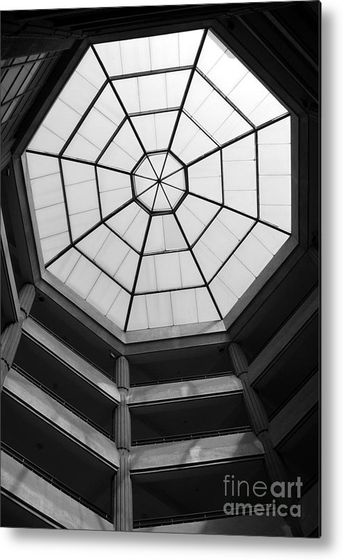Octagon Metal Print featuring the photograph Octagon Skylight by Yali Shi