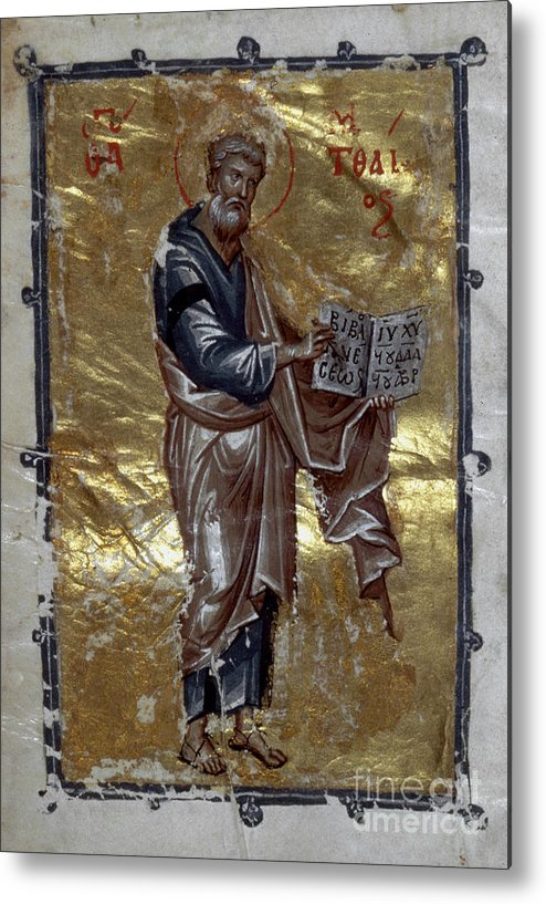 13th Century Metal Print featuring the painting Saint Matthew by Granger