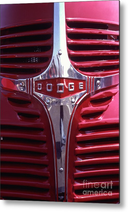 Dodge Metal Print featuring the photograph 1938 Dodge Pickup Front End by Anna Lisa Yoder