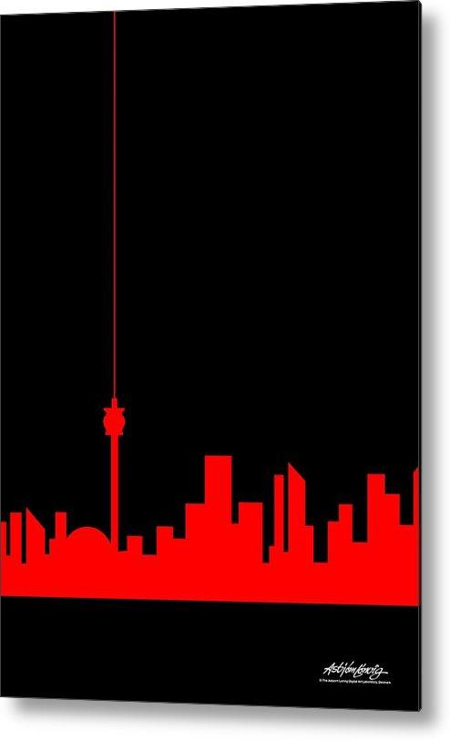 Metal Print featuring the painting Toronto Skyline by Asbjorn Lonvig