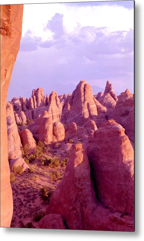 Arches National Park Metal Print featuring the photograph Arches Sentinels by Steve Ohlsen