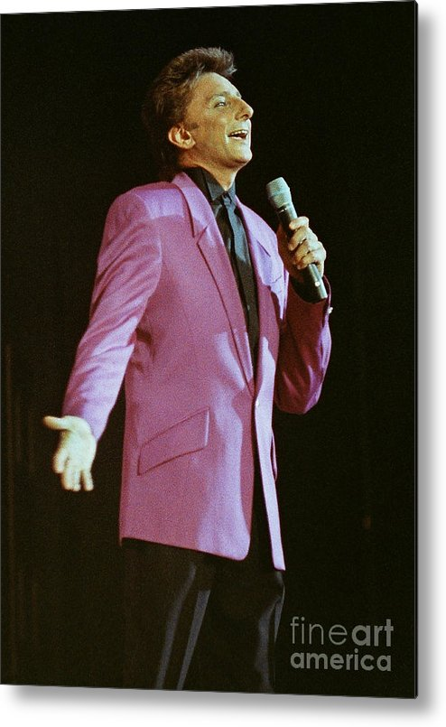 Barry Manilow Metal Print featuring the photograph Barry Manilow-0774 by Gary Gingrich Galleries
