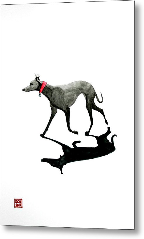 Dogs Metal Print featuring the painting Beach Dog by Richard Williamson
