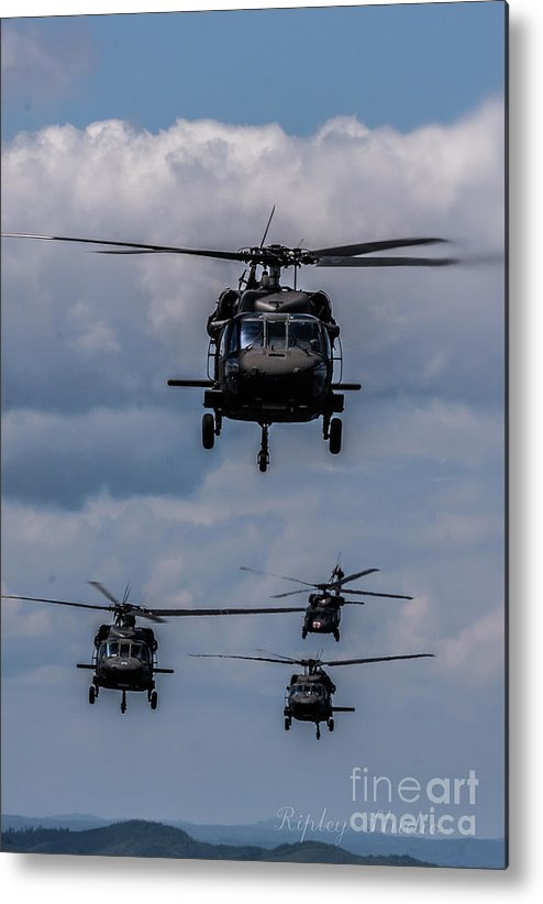 Metal Print featuring the photograph Blackhawk Stack by Shawn Ripley