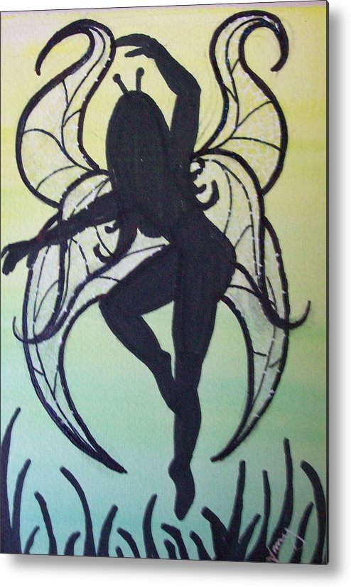 Metal Print featuring the painting Celtic Fairy by Amy Lauren Gettys