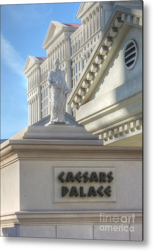 Julius Caesar Caesars Palace Metal Print featuring the photograph Chairman Of The Board by David Bearden