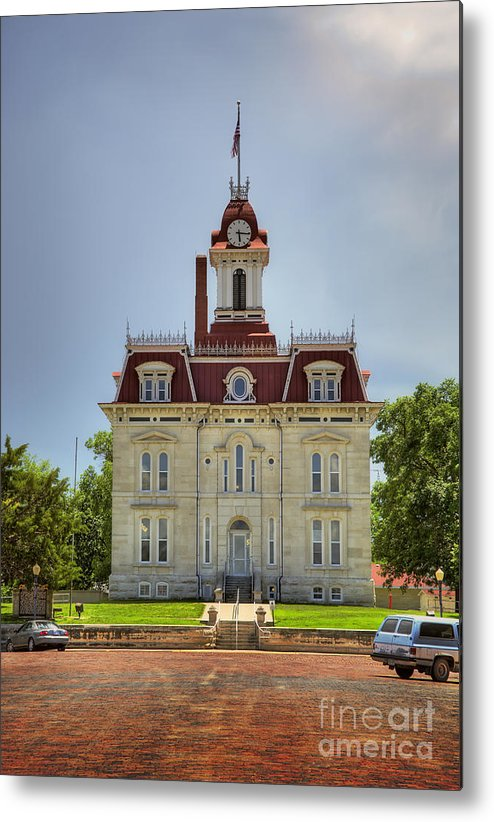 Kansas Metal Print featuring the photograph Chase Co Courthouse by Fred Lassmann