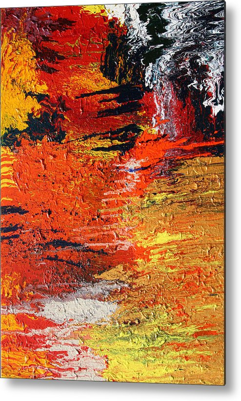 Fusionart Metal Print featuring the painting Chasm by Ralph White