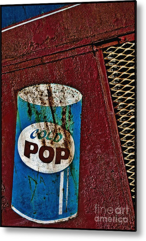 Digital Metal Print featuring the photograph Cold Pop by Curtis Staiger