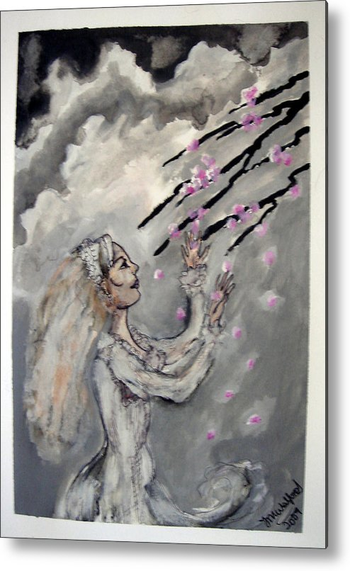 Metal Print featuring the painting Collecting by Jenni Walford