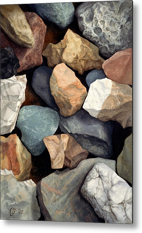 Stones Metal Print featuring the painting Common Stone by Craig Gallaway