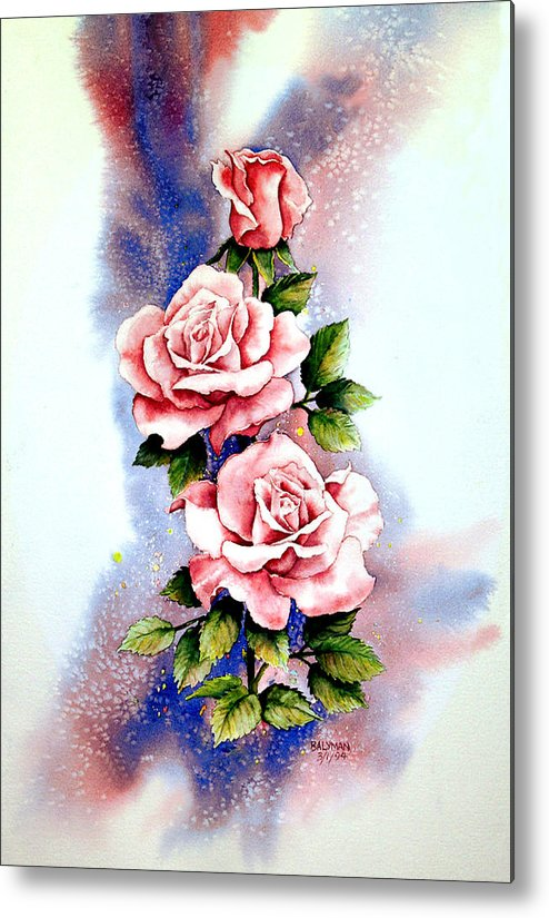 Floral Metal Print featuring the painting Dream Roses by Brooke Lyman