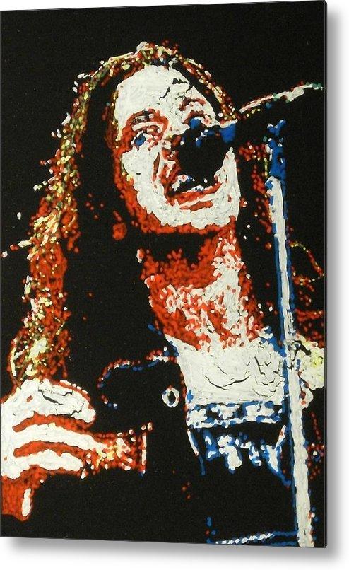 Pearl Jam Metal Print featuring the painting Eddie Vedder by Grant Van Driest