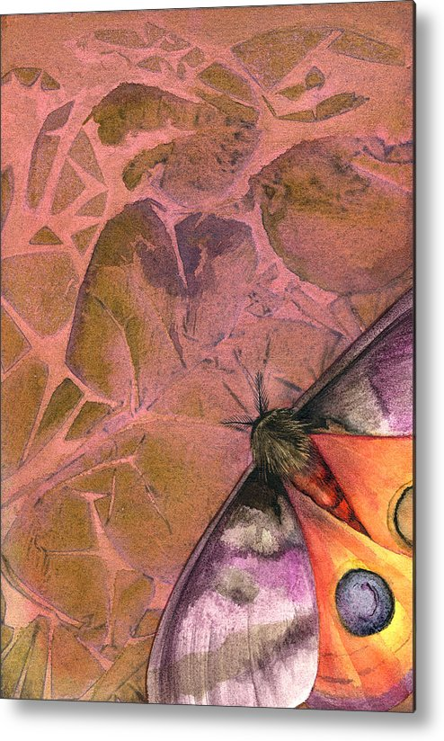 Moths Metal Print featuring the painting Fantasmoth 2 by Mindy Lighthipe