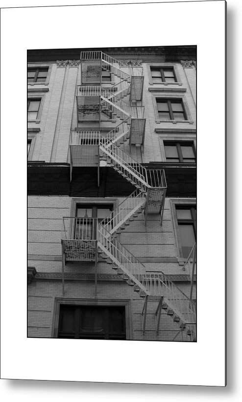 Fire Escape Metal Print featuring the photograph Fire Escape by Filipe N Marques