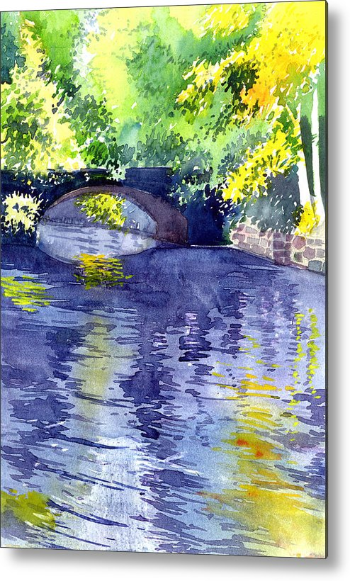 Nature Metal Print featuring the painting Floods by Anil Nene