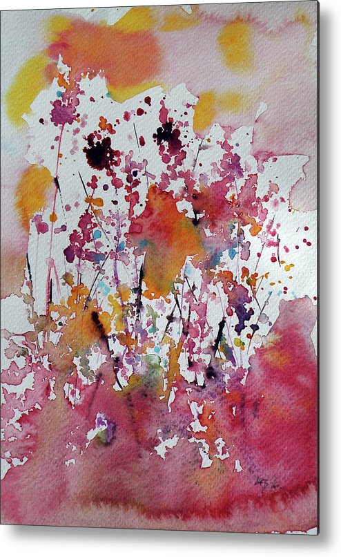 Flower Metal Print featuring the painting Flowers Of Field by Kovacs Anna Brigitta