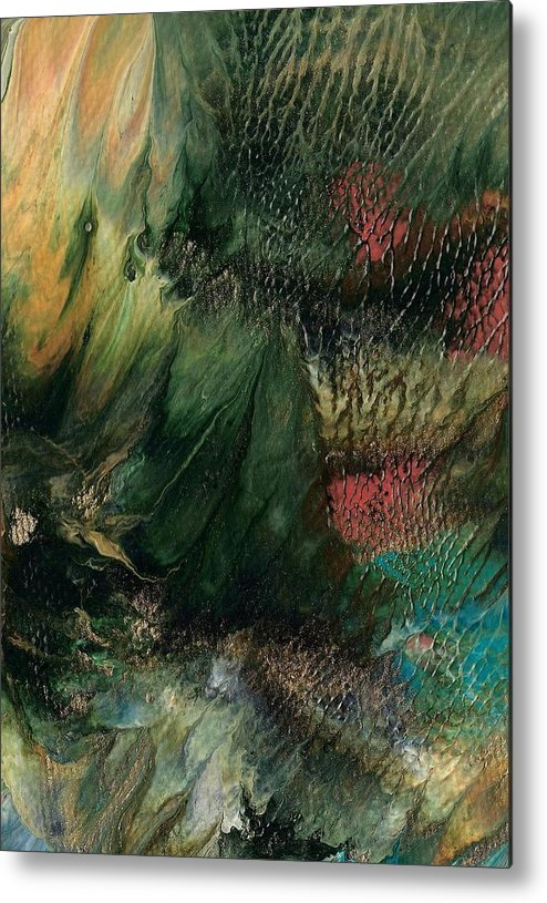 Ocean Landscape Metal Print featuring the painting Gems Of The Sea by Linda Stevenson