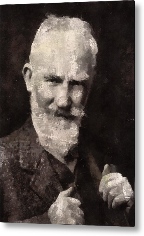 George Metal Print featuring the painting George Bernard Shaw Author by Mary Bassett
