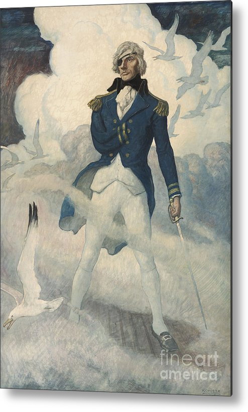 Wyeth Metal Print featuring the painting Ghost Of Admiral Nelson by Newell Convers Wyeth
