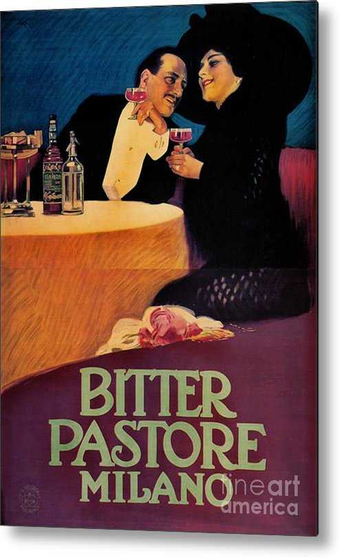 Italian Bitters Ad 1913 Metal Print featuring the photograph Italian Bitters Ad 1913 by Padre Art