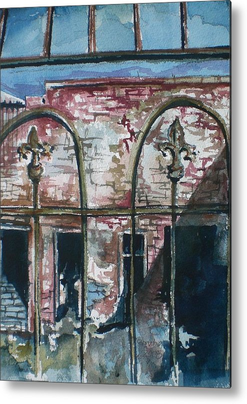 Jerome Metal Print featuring the painting Jerome Ruins by Aleksandra Buha