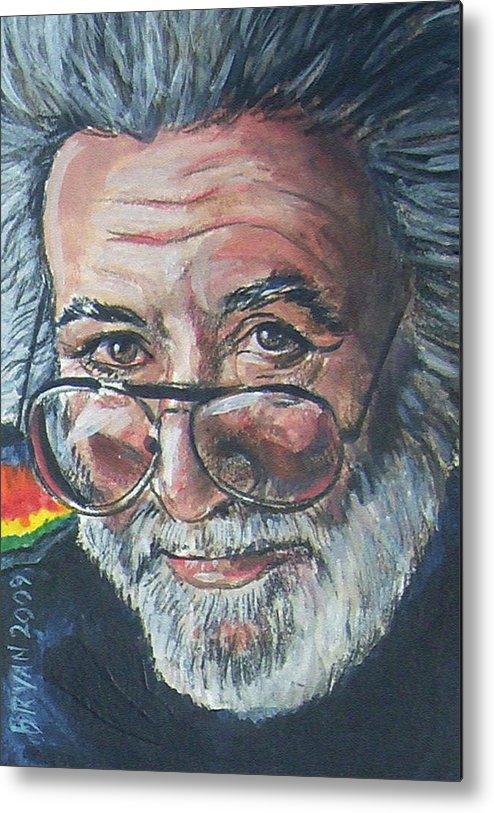 Jerry Garcia Metal Print featuring the painting Jerry Garcia by Bryan Bustard