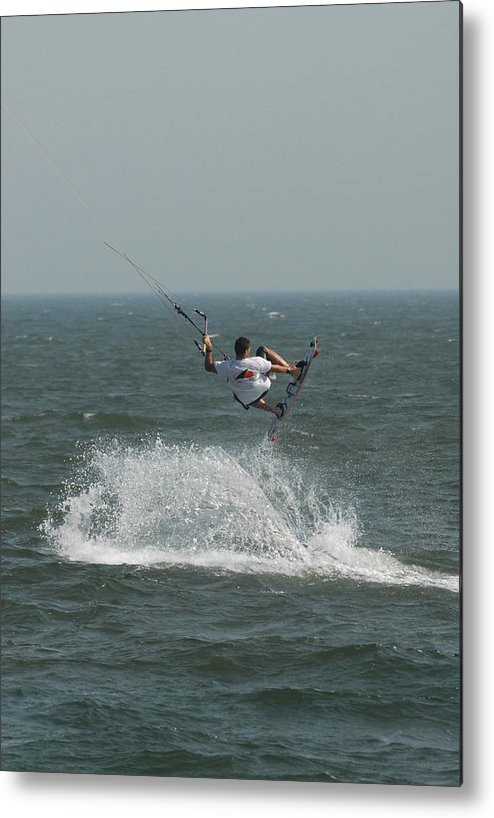 Kite Surfing Metal Print featuring the photograph Kite Surfing 15 by Joyce StJames