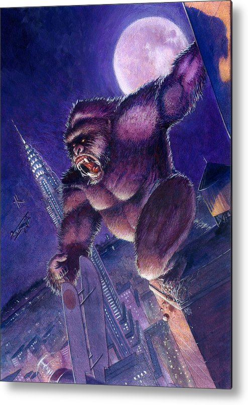 King Kong Metal Print featuring the painting Kong by Ken Meyer jr