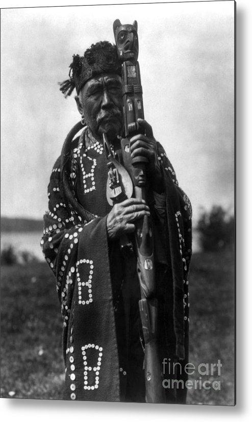 Aod Metal Print featuring the photograph Kwakiutl Chief, C1914 by Granger