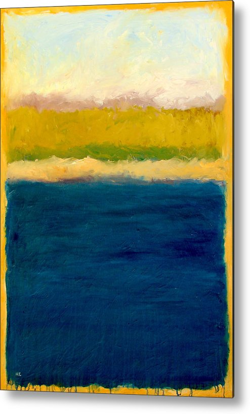 Dunes Metal Print featuring the painting Lake Michigan Beach Abstracted by Michelle Calkins