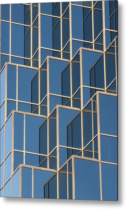 Reflections Metal Print featuring the photograph Little Boxes by Elisabeth Van Eyken