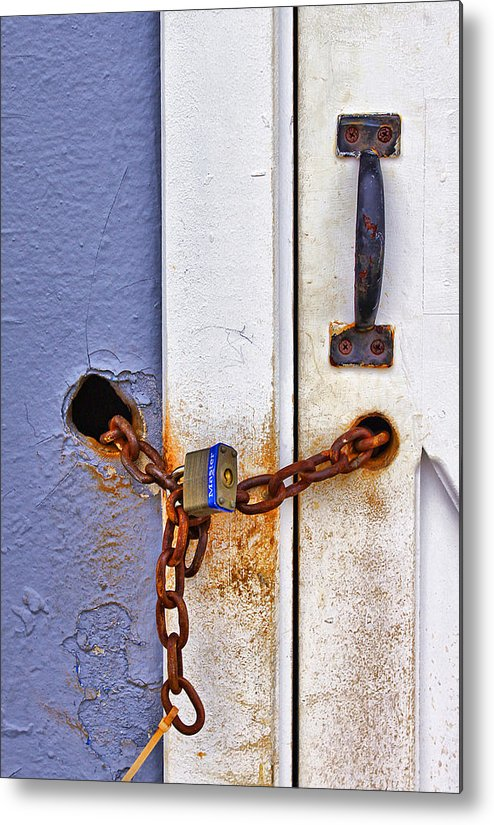 Beach Metal Print featuring the photograph Locked Out by Evelina Kremsdorf