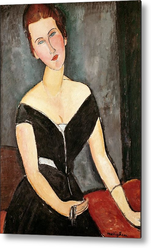 Madame Metal Print featuring the painting Madame G Van Muyden by Amedeo Modigliani