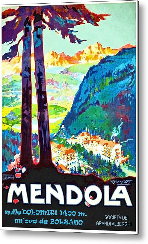 Mendola Metal Print featuring the painting Mendola, Italy, Landscape by Long Shot