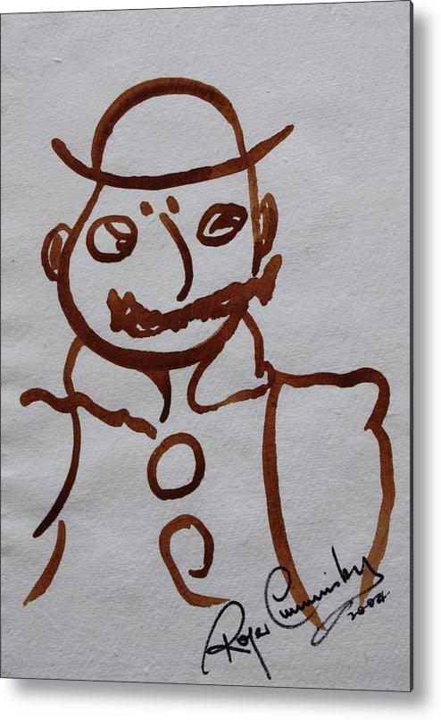 James Joyce Ulysses Metal Print featuring the painting Mr Leopold Bloom by Roger Cummiskey