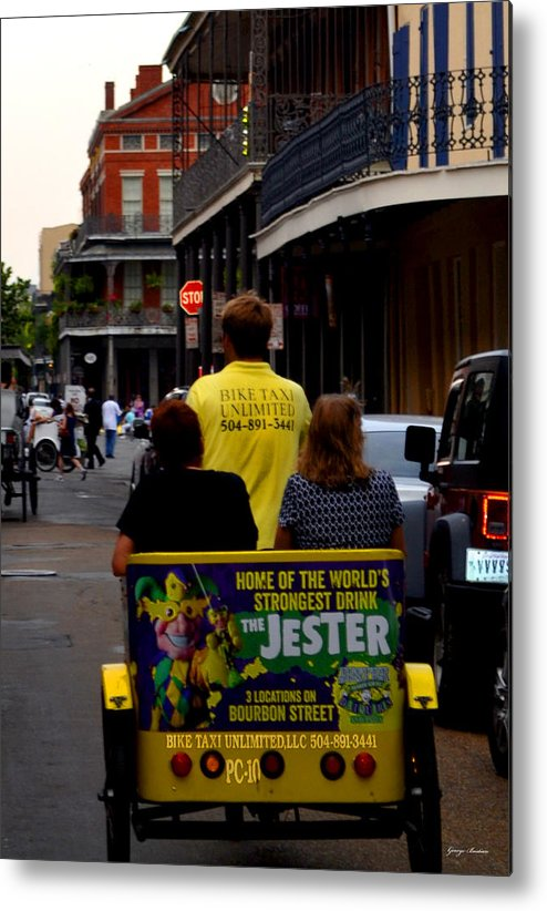 New Orleans Metal Print featuring the photograph New Orleans Street Bike Taxi by George Bostian