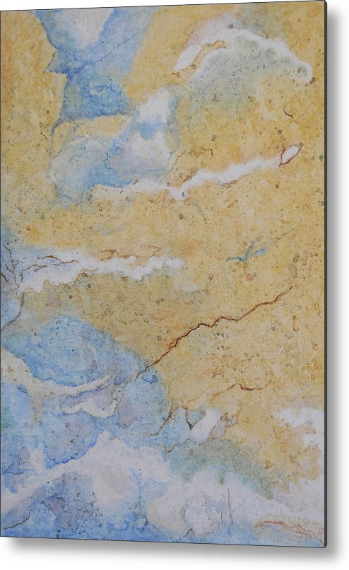 Abstract Metal Print featuring the painting On Earth As In Heaven by Craig Gallaway