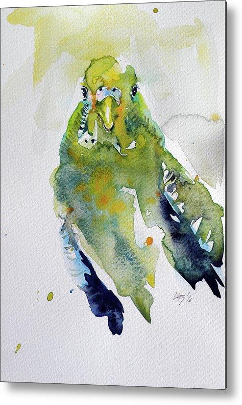 Bird Metal Print featuring the painting Parrot by Kovacs Anna Brigitta