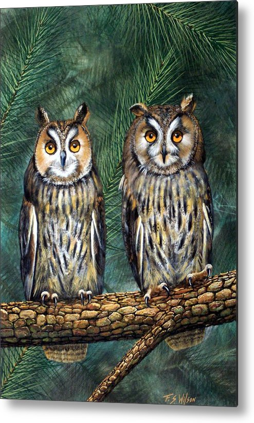 Wildlife Metal Print featuring the painting Perfect Strangers by Frank Wilson