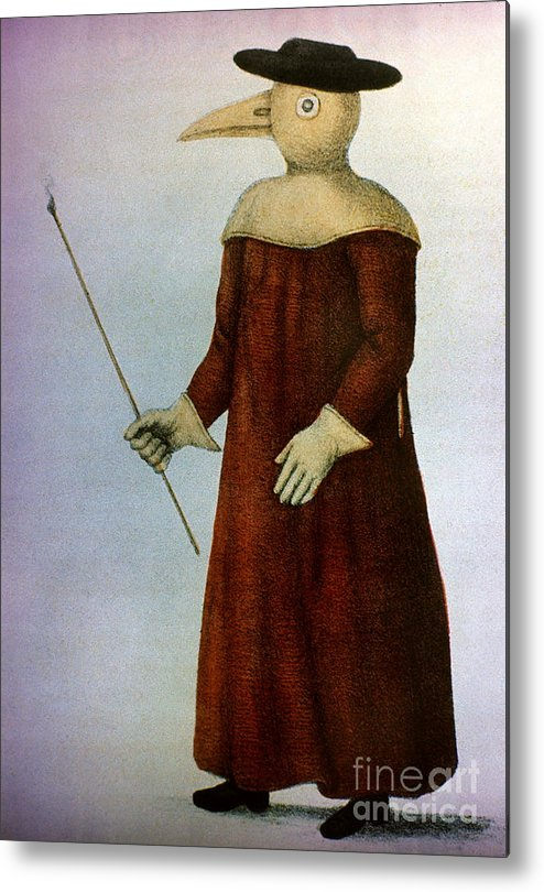 1720 Metal Print featuring the photograph Plague Costume by Granger